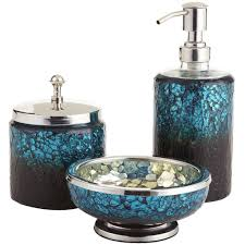Bathroom: Glamorous Black Bathroom Accessories With Soap Dispenser ...