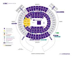 Lsu Gymnastics Seating Chart Maravich Center Lsusports