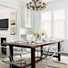 ghost chair dining room reclaimed wood trestle dining table with beige tufted nailhead of ghost chair