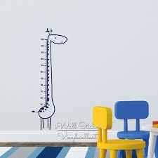 Baby Nursery Giraffe Growth Chart Wall Sticker Giraffe Height Chart Wall Decal Kids Room Children Wall Decal Cut Vinyl Oversized Wall Decals Owl Wall