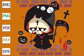 Grim Reaper Halloween Design Graphic By Monopole499707