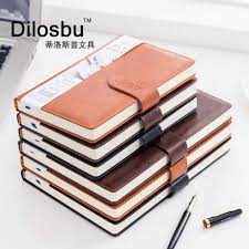 dilosbu business leather notebook a5 black waterproof cover b5 planner binder note book paper daily planner 2018 graduation gift malaysia