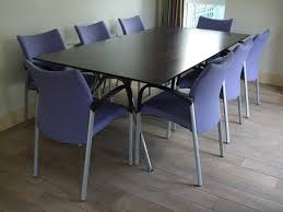 office kitchen table. KITCHEN TABLE / OFFICE EXECUTIVE DESK AND EIGHT TRIllIPSE CHAIRS Office Kitchen Table