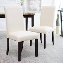 morgana tufted parsons dining chair set of 2 hayneedle with regard to parsons dining room chairs