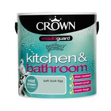 Duck Egg Blue Kitchen Paint Crown Kitchen Bathroom Mid Sheen Soft Duck Egg 25l