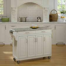 Top Kitchen Home Styles Create A Cart White Kitchen Cart With Concrete Top