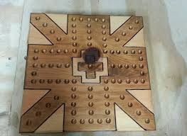 Wooden Aggravation Game Handcrafted 100 player aggravation game board Pine wood New marbles 57