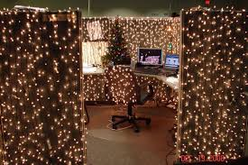 Image Peaceful Christmas Cubicle Decorations Lights More Pinterest Cubicle Dwellers With Serious Christmas Spirit Office