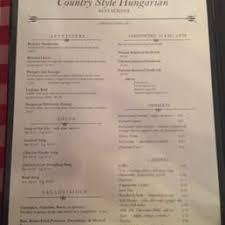 Country Style Hungarian Restaurant 450 Bloor Street West Toronto Country Style Hungarian Restaurant Menu
