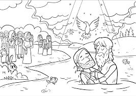 Kinderwoorddienst Kleurplaat De Doop Van Jezus
