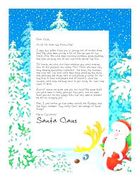 Free Letter From Santa Word Template Reply Template Custom Letter Easy Free Letters From