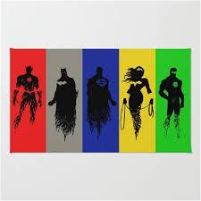 original justice league members superhero area rug