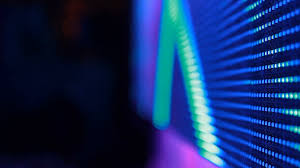 lights of the led screen of stage during the concert background close up stock footage blocks