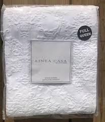 linea casa by sferra. Beautiful Casa SFERRA Queen LINEA CASA Pure White Embossed Matelasse Floral Coverlet  Blanket To Linea Casa By Sferra C