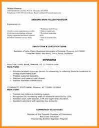 Resume Sample Personal Banker Objectives Hi Bank Teller