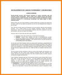 Sample Summary Statement Resume 7 Resume Career Summary Example The Stuffedolive Restaurant