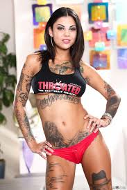 Tattooed pornstar Bonnie Rotten is one of the best ones when it.
