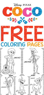 Get free printable coloring pages for kids. Free Printables Disney Pixar S Coco Coloring Pages Life She Has