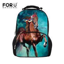 Online Shop FORUDESIGNS 3D Animal <b>Printing</b> Backpacks for Men ...
