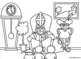 Sinterklaas En Zwarte Piet Kleurplaat 352678 Kleurplaat