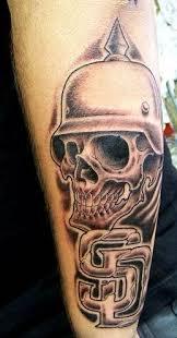 3d Motiv Tetování 8 Na Předloktí Vzor Lebka