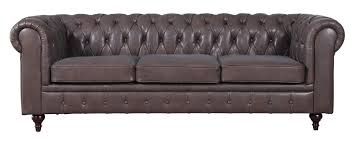 Kacper Tufted Leather Chesterfield Sofa