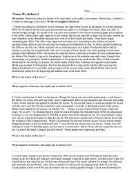 Theme Worksheet 4 Answer Key - Fill Online, Printable, Fillable ...