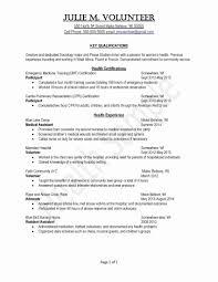 College Graduate Resume Examples Valid Volunteer Experience Resume