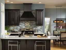 Dark Wood Kitchen Dark Kitchen Cabinets With Grey Walls Outofhome
