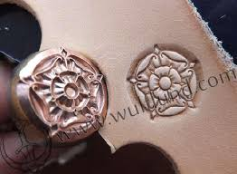 meval rose leather stamp