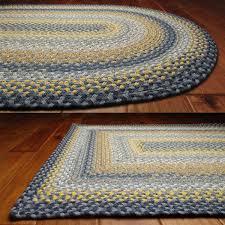 home interior free blue braided rug 2 x 3 1 wool half round country braid