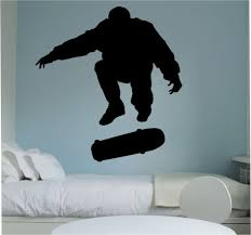 skater skateboarder kick flip skateboard wall decal vinyl sticker