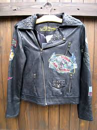 ed hardy ed hardy leather riders leather jacket