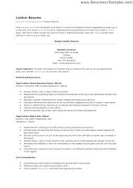 Sample Resume Of A Cashier Sample Resume For Cashier Position