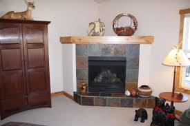 faux corner fireplace slate tile