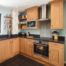 shaker lacquered oak cabinets make a beautiful feature in oak kitchens