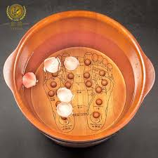 china wooden foot soaking barrel with massage beads acupressure china wooden barrel foot soaking basin