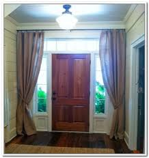 front door window coverStylish Front Door Curtains and Exterior Front Door Curtains