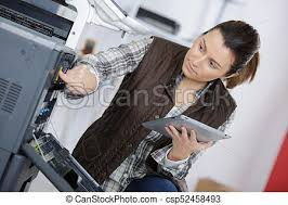 Printer Technician Young Female Printer Technician