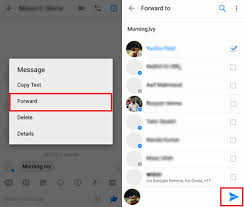 How Do You Forward A Text Send Messages Pictures Videos With Facebook Messenger On Android