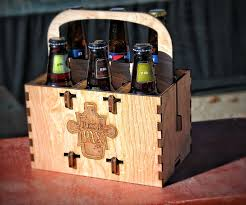 say goodbye to soggy six pack holders forever with these custom wood carriers made right here in pittsburgh