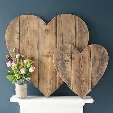 heart shaped wood wall art