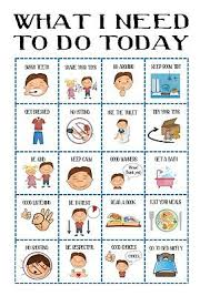 Toddler Routine Chart Boys Routine Chart Toddler Chores Print Daily Visual Aid