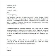 Letter Of Intent Grad School Letter Of Intent Graduate School 7 Free Samples Examples Formats