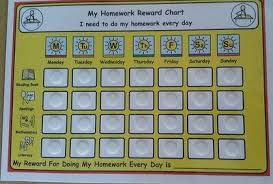 My Homework Reward Chart For Sen Adhd Asd Autism Visual