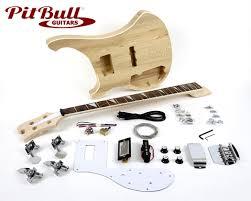 pit bull guitars rca 4l electric bass guitar kit left handed