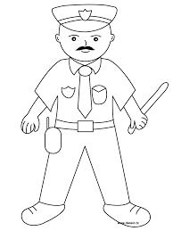 Coloring Policeman