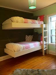 Floating Loft Bed Ana White Floating Bunk Beds And Desk Diy Projects