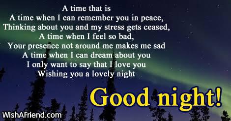 sad good night poetry