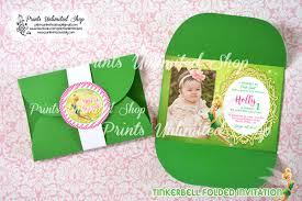 Tinkerbell Invitation Tinkerbell Prints Unlimited Shop Invitations And Souvenirs